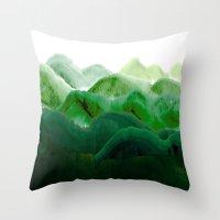 山秀谷 Throw Pillow