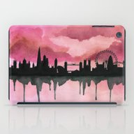 London Skyline 2 Pink iPad Case
