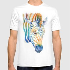 Zebra SMALL White Mens Fitted Tee