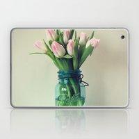 Mason Jar Spring Tulips Laptop & iPad Skin