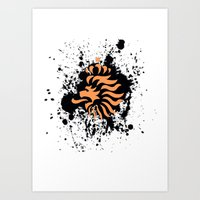 Knvb Royal Lion Art Print