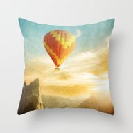 Flying Over The Morning … Throw Pillow