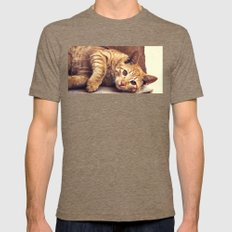 Cat roux Mens Fitted Tee Tri-Coffee SMALL
