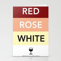 French Wines Bordeaux Bo… Stationery Cards