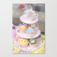 Cupcake Tower Canvas Print