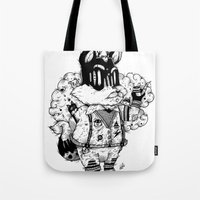 Watch & Learn Dear Creatures (Black & White Version) Tote Bag