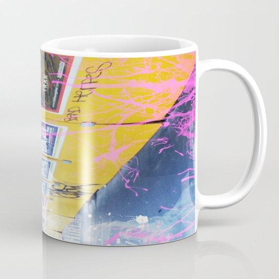 purple and yellow _  little burke graffiti Mug