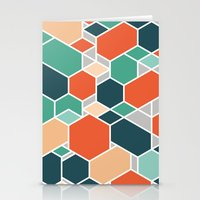 Hex P Stationery Cards