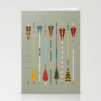 Vintage Arrows Stationery Cards