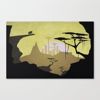 Abandoned City (day) Canvas Print