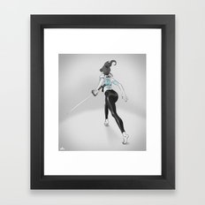Tattoo and Katana Framed Art Print