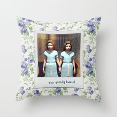 The greedy twins! Throw Pillow