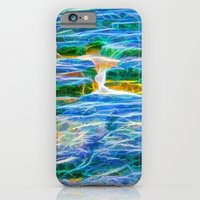Abstract rock pool in the rough rocks in Queensland iPhone 6 Slim Case