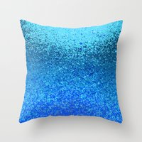 Ocean Ripple Throw Pillow
