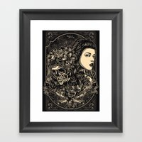 The chemistry between - re colors Framed Art Print
