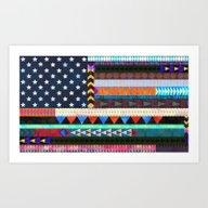 Art Print featuring Boho America by Schatzi Brown