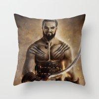 Khal Drogo Throw Pillow