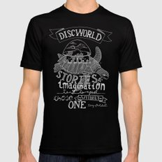 DISCWORLD SMALL Black Mens Fitted Tee