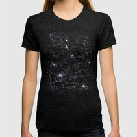 Star Ships Womens Fitted Tee Tri-Black SMALL