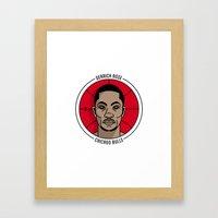 Derrick Rose Badge Illus… Framed Art Print