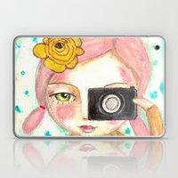 Smile ! Girl With Photo … Laptop & iPad Skin