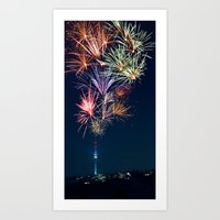 Sparkling City Art Print