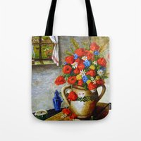 Hungarian Poppies Tote Bag