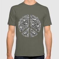 Peace Naturalis Mens Fitted Tee Lieutenant SMALL