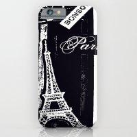 Bonsoir -black And White iPhone 6 Slim Case