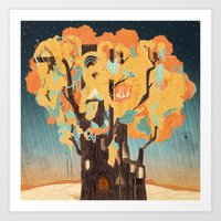 Treehouse Art Print