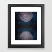 LOVE You To The Moon And… Framed Art Print