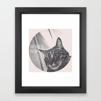 Time is Meow Framed Art Print