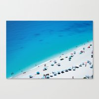 The Beach. Blue Sea Medi… Canvas Print