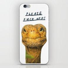 please fuck off ! iPhone & iPod Skin