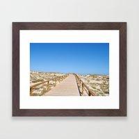 Along The Boardwalk Framed Art Print