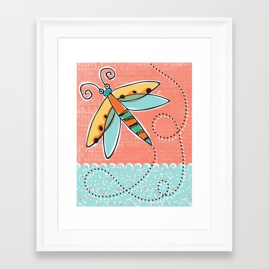 Summer Buzzin' Framed Art Print