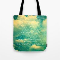 She Can Move Mountains Tote Bag