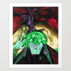 Passion purple Art Print