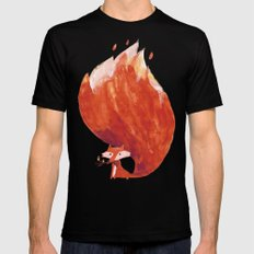 Kitsune (Fox of fire) Mens Fitted Tee Black SMALL