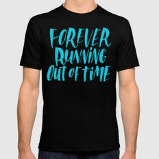 Forever Running Black Mens Fitted Tee SMALL