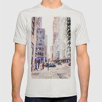 NYC Mens Fitted Tee Silver SMALL