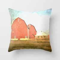 Family Farm Throw Pillow