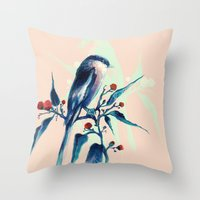 Hashtag Blue Bird Throw Pillow