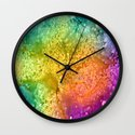 Rainbow Explosion Wall Clock