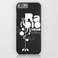 Radiohead song - Last flowers illustration white iPhone 6 Slim Case