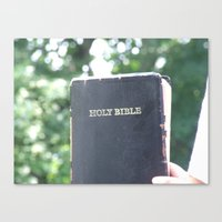 Holy Bible w/ bokeh Canvas Print