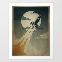 Night Launch Art Print
