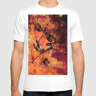 Black Dragonflies Mens Fitted Tee White SMALL