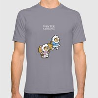 Winter Is Coming! Mens Fitted Tee Slate SMALL