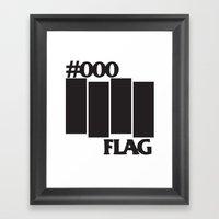 #000 Flag Framed Art Print